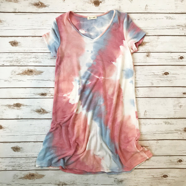 Andrea Tie Dye Dress - Why Not Boutique