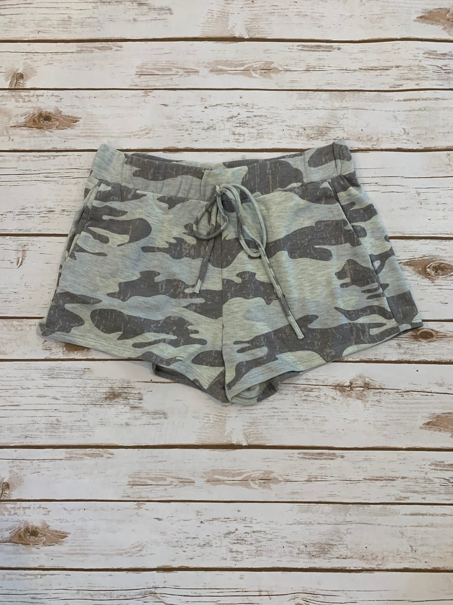 Camo Lounge Shorts - Why Not Boutique