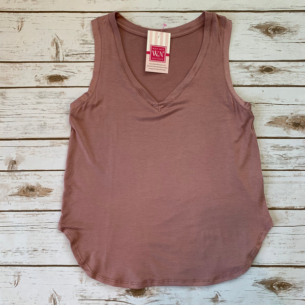 Love V Neck Tanks - Why Not Boutique