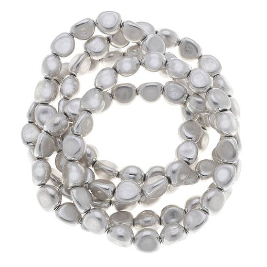 Irregular Bead Stretch Bracelet - Why Not Boutique