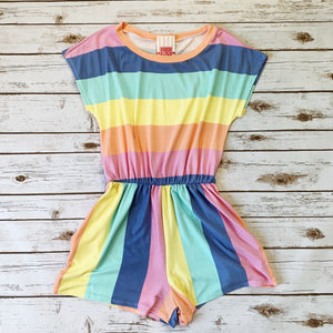Rainbow Bright Romper - Why Not Boutique