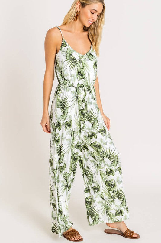 Palm Jumpsuit - Why Not Boutique Tampa