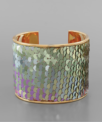 50mm Sequin Color Cuff - Why Not Boutique