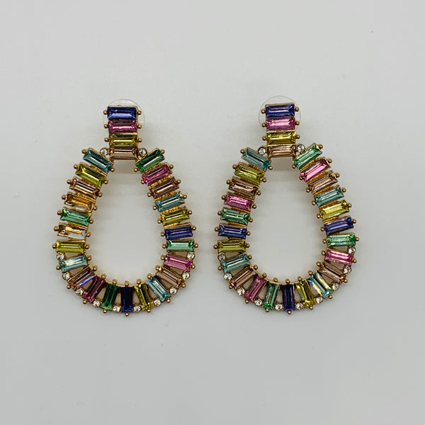 Multi Baguette Earrings - Why Not Boutique Tampa