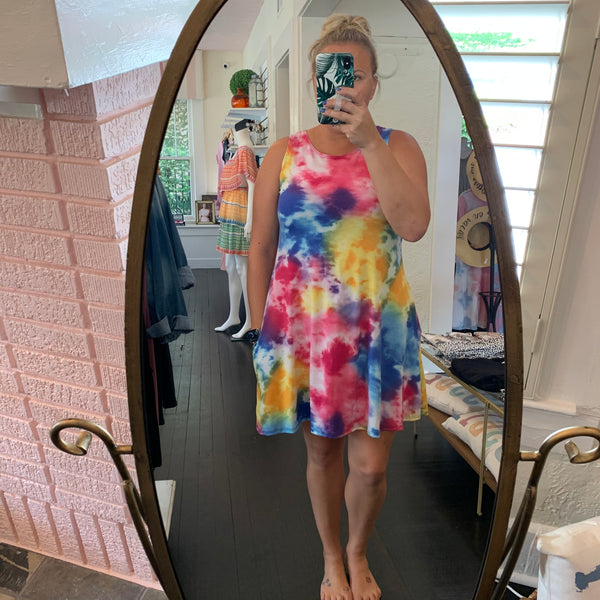 Georgia Tie Dye Dress - Why Not Boutique
