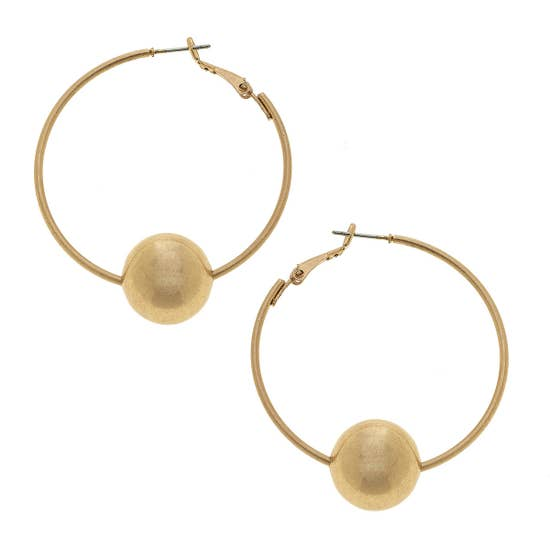 Pearl Bead Hoop Earrings - Why Not Boutique