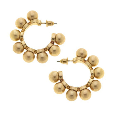 Multi Bead Hoop Earrings - Why Not Boutique