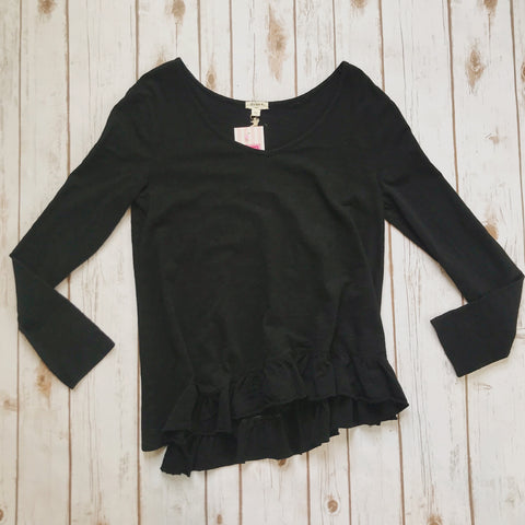 Soft Slub Long Sleeve V Neck Tee - Why Not Boutique