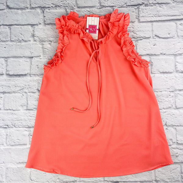 Maxine Sleeveless Ruffle Top