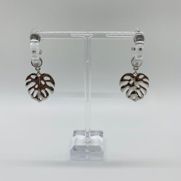 Palm Leaf Earrings - Why Not Boutique Tampa