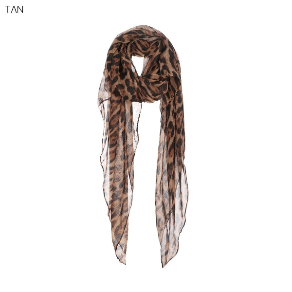 Lightweight Leopard Print Scarf - Why Not Boutique
