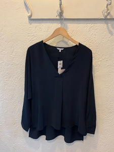V Neck Pintuck Blouse - Why Not Boutique Tampa