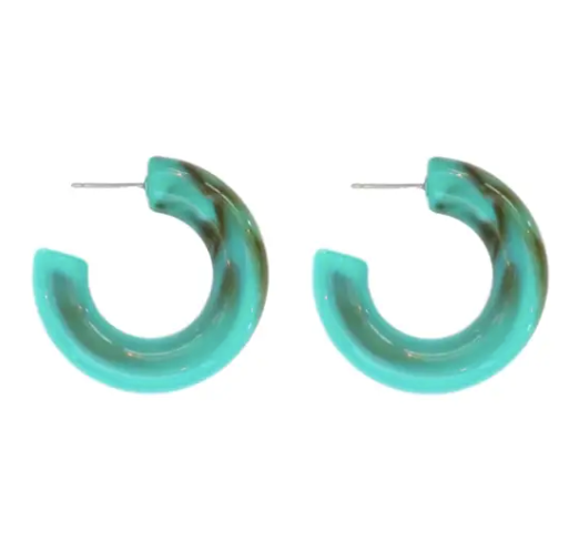 Chunky Lucite Hoops - Why Not Boutique