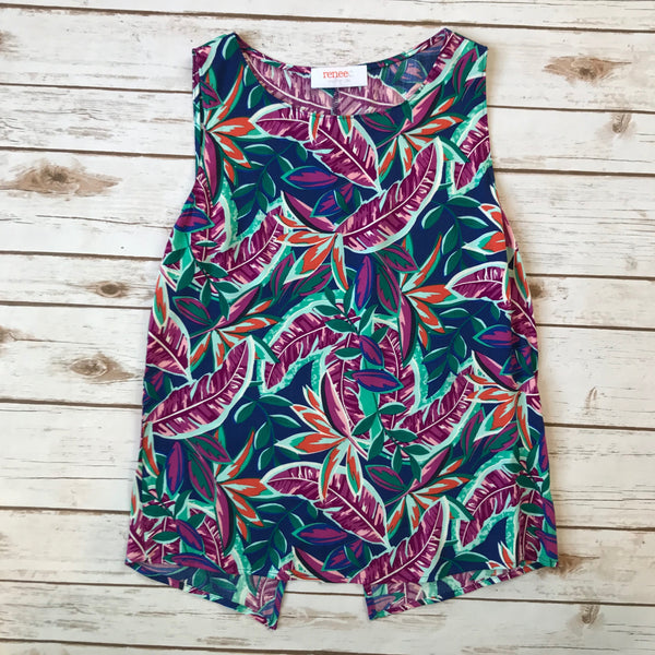 Tropical Leaf Print Top - Why Not Boutique Tampa