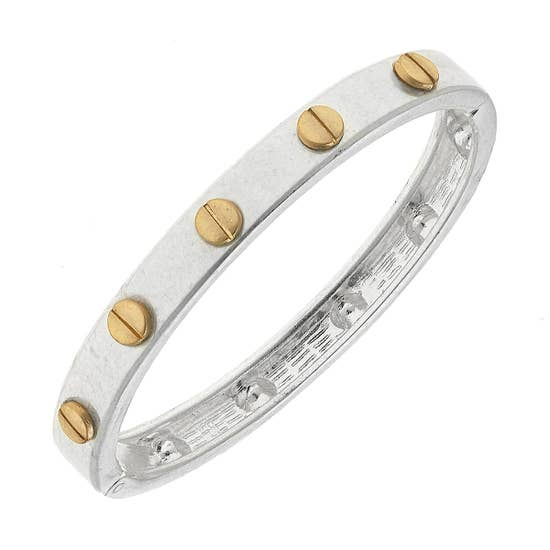 Protruding Slotted Screw Bangle - Why Not Boutique