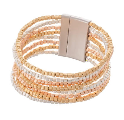 Multi-Strand Block Bead Bracelet - Why Not Boutique Tampa