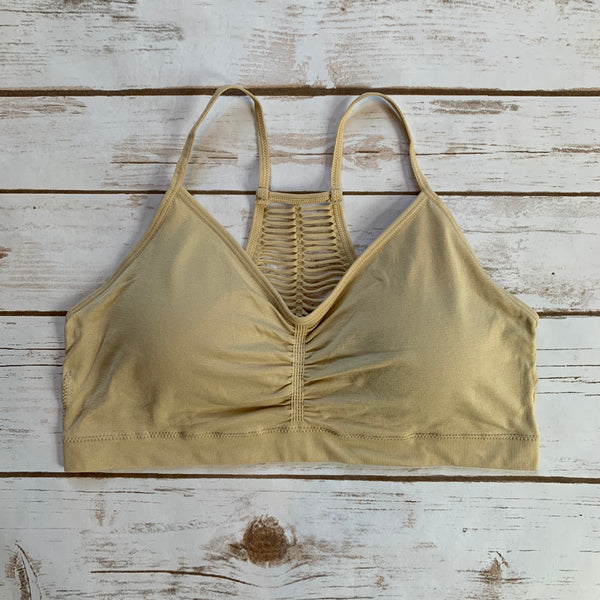 Sheer Pinhole Racerback Bralette - Why Not Boutique