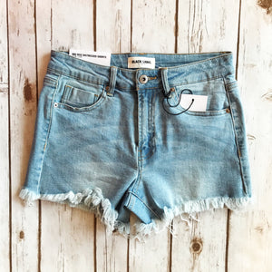 Raw Hem Mid Rise Denim Shorts - Why Not Boutique Tampa