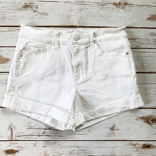 Mid Rise Cuff Denim Short - Why Not Boutique Tampa