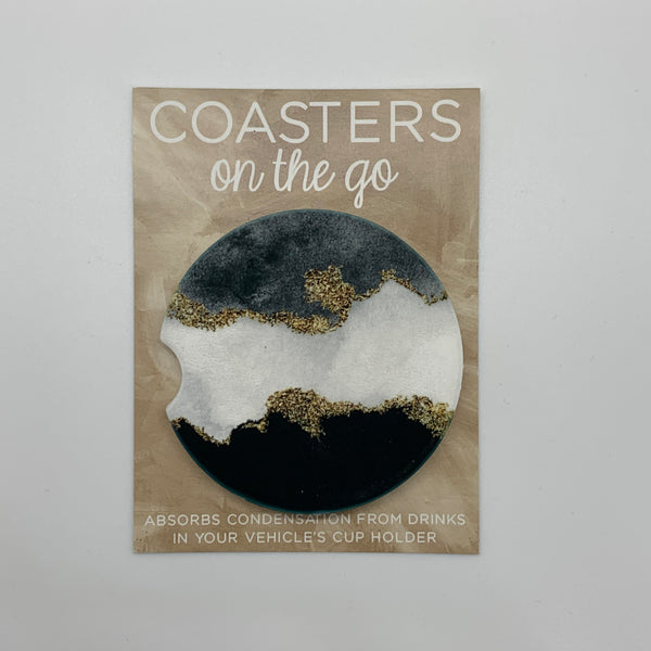 Marble Car Coasters - Set of 2 - Why Not Boutique