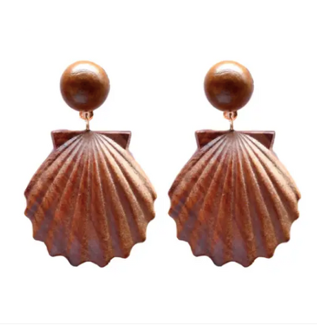 Wooden Shell Drops - Why Not Boutique