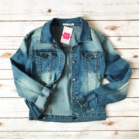 Fitted Denim Jacket - Why Not Boutique