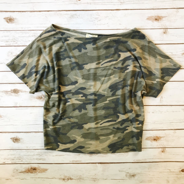 Oaklyn Camo Top - Why Not Boutique Tampa