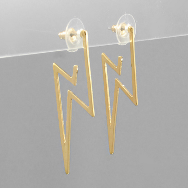 Lightning Outline Earrings