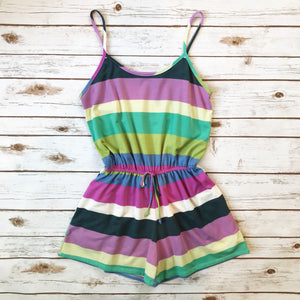 Colorblock Striped Romper - Why Not Boutique