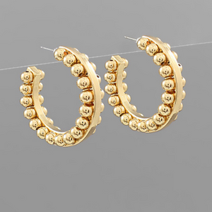 Ball Studded Hoops