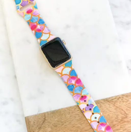 Printed Silicone Smart Watch Band - Why Not Boutique Tampa