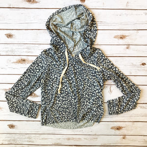 Leopard Print Cropped Hoodie - Why Not Boutique