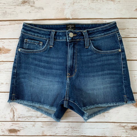 High Rise Frayed Short w/ Slit - Why Not Boutique