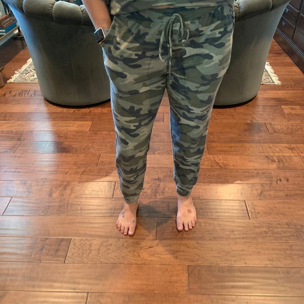 Camo Print Joggers - Why Not Boutique Tampa