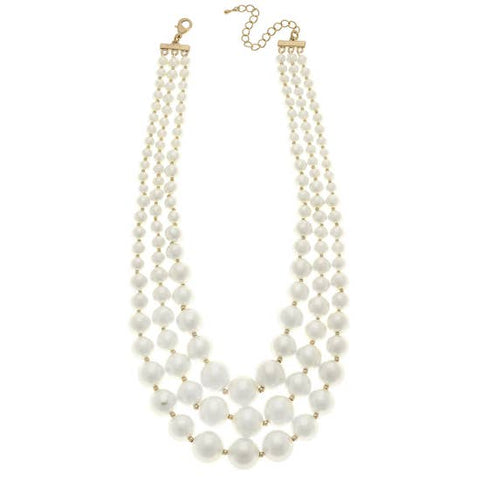 Triple Strand Large Bead Necklace - Why Not Boutique