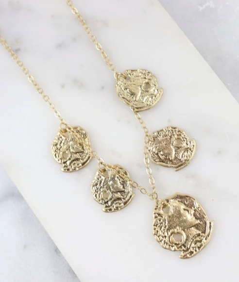 Nico Five Coin Charm Necklace - Why Not Boutique