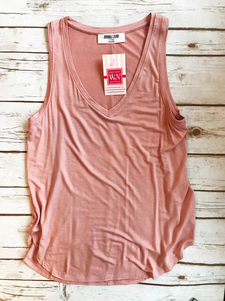V Neck Basic Sleeveless Tank - Why Not Boutique