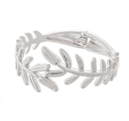 Metal Leaf Hinge Cuff - Why Not Boutique Tampa