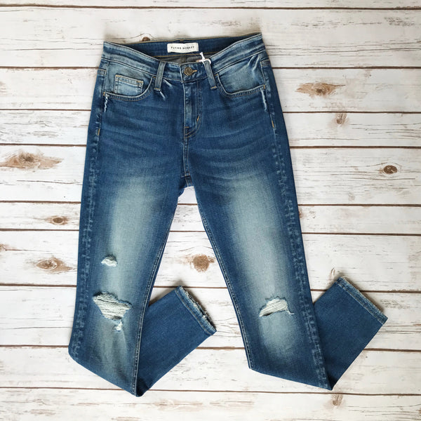 Mid Rise Crop Skinny - Why Not Boutique