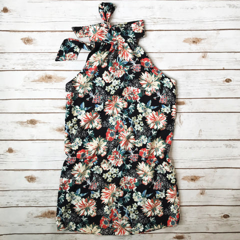 Mock Neck Floral Dress - Why Not Boutique Tampa