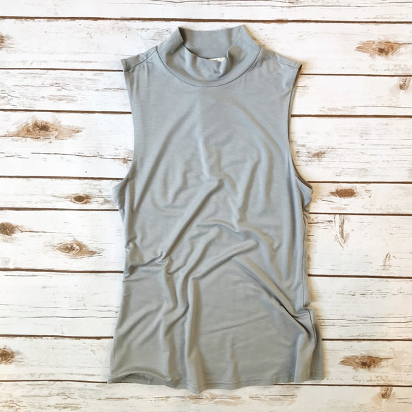 Sleeveless Mock Neck Top - Why Not Boutique