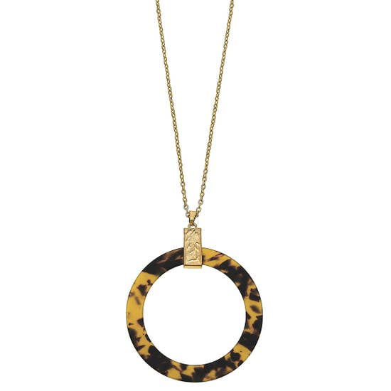 Open Circle Resin Necklace - Why Not Boutique