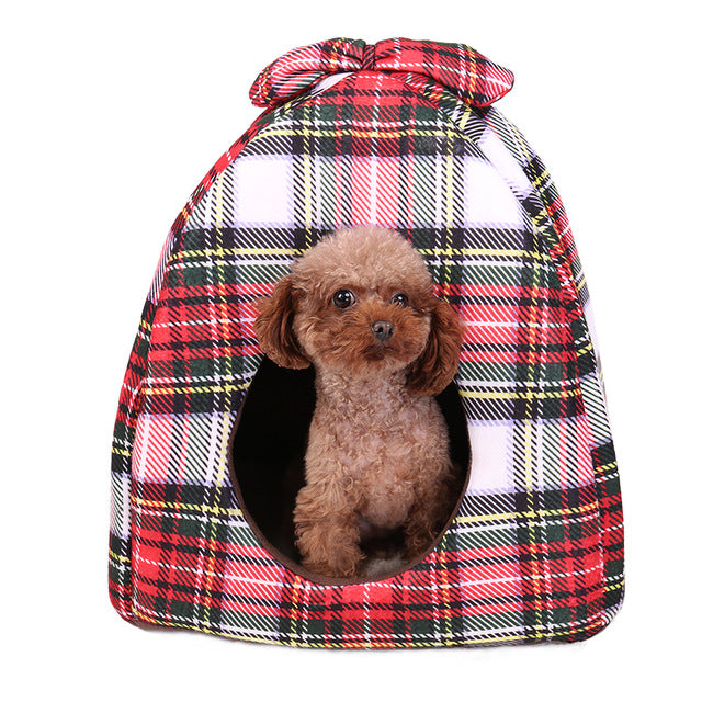 Plaid Dog House