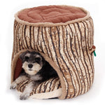 Super Soft Dog Bed Tree Stump Design