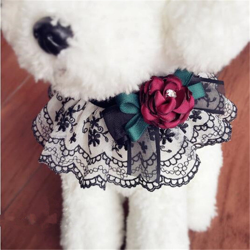 Bow Tie Necklace / Lace Collar