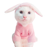 Easter Bunny Pet Costume / Hooded Fleece Coat