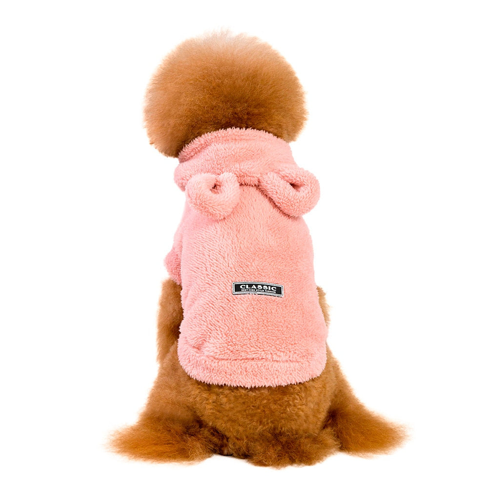 Warm Pet Bunny Ears Hoodie / Costume / Fleece