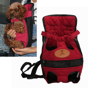 Portable Breathable Travel Pet Backpack (Red)