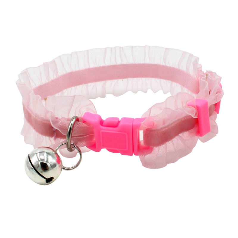 Puppy Dog Collar Beautiful Lace Pet Collar With Bell