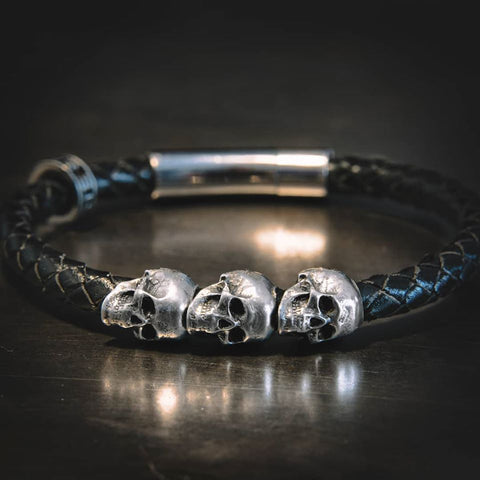 Men S Leather Bracelet By Santa Muerte Blog